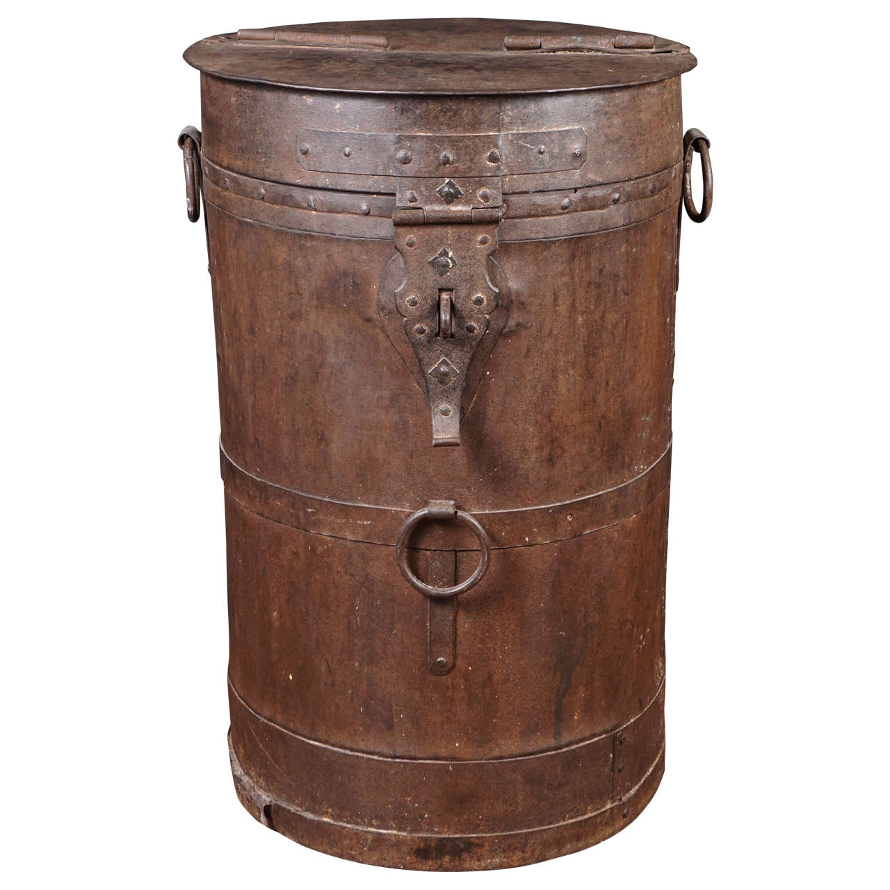 Midcentury Iron Industrial Storage Container For Sale at 1stdibs