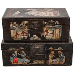 Painted Chinese Lacquer Boxes