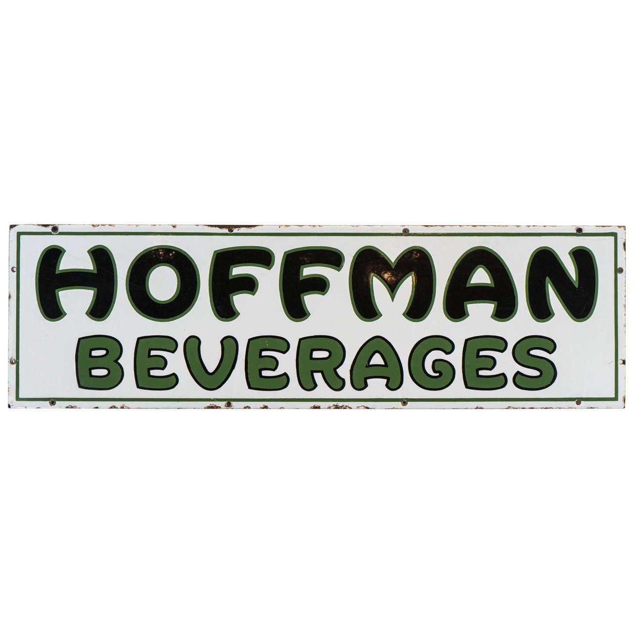 Rare Hoffman Beverages Porcelain Sign