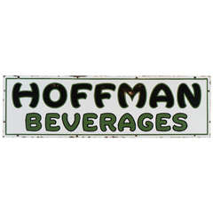 Rare Hoffman Beverages Porcelain Sign
