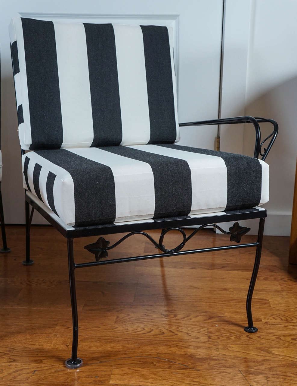Three Piece Black Wrought Iron Sofa At 1stdibs