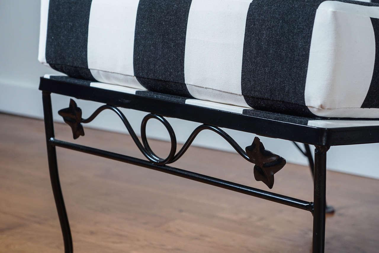 Three Piece Black Wrought Iron Sofa At 1stdibs