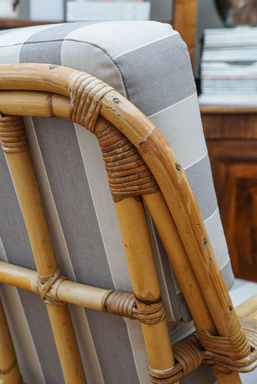 Vintage Rattan Armchair at 1stdibs