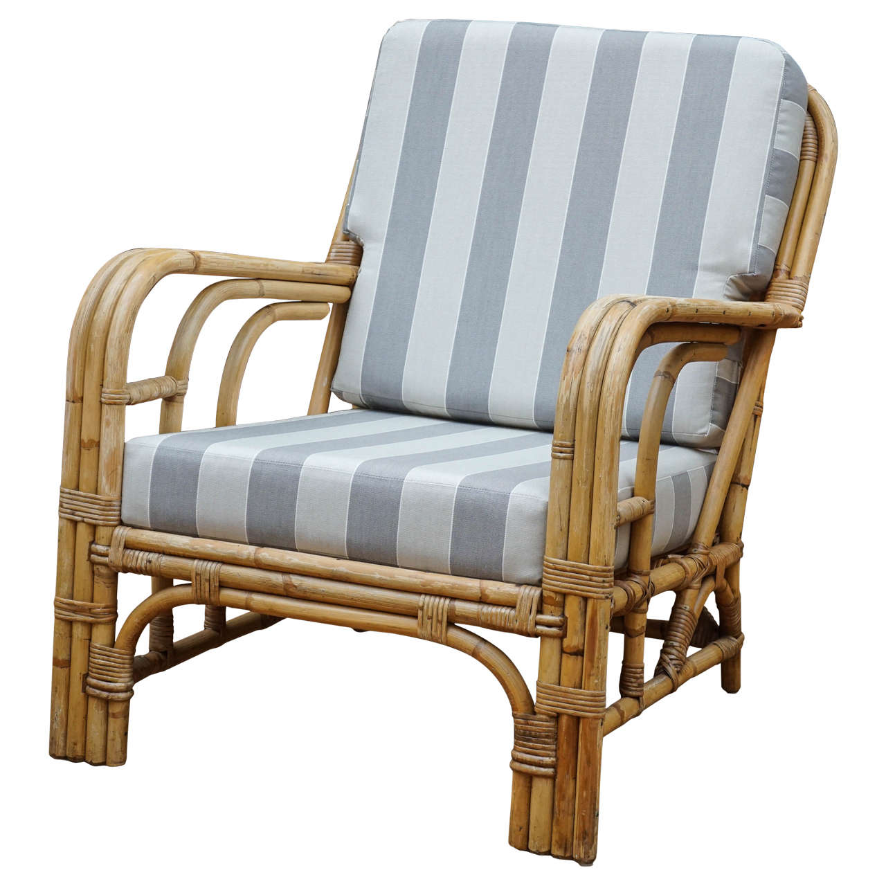 Vintage Rattan Armchair at 1stdibs