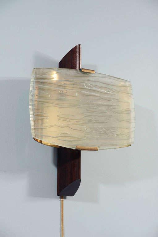 Rare Wall Sconce by Fontana Arte For Sale 1