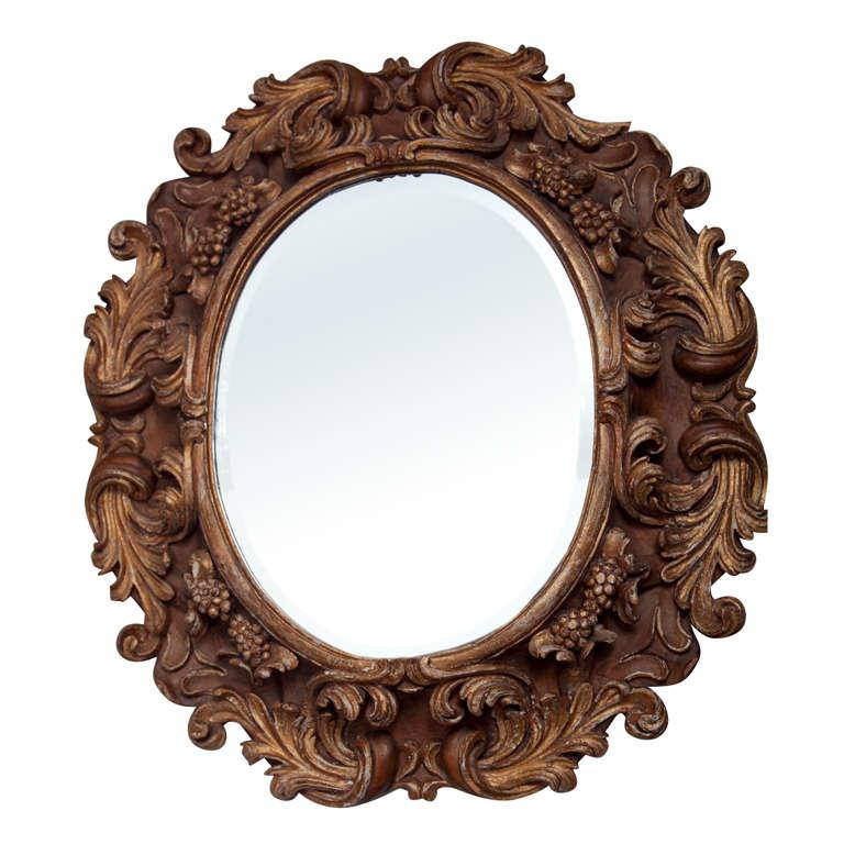 Italian baroque style mirror at 1stdibs for Italian baroque mirror