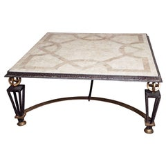 Metal & Marble Square Coffee Table