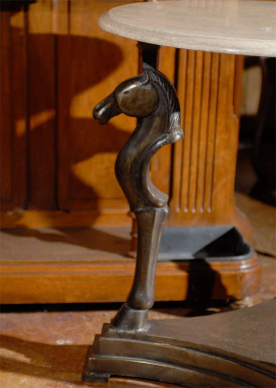 Bronze Horse Head Table At 1stdibs
