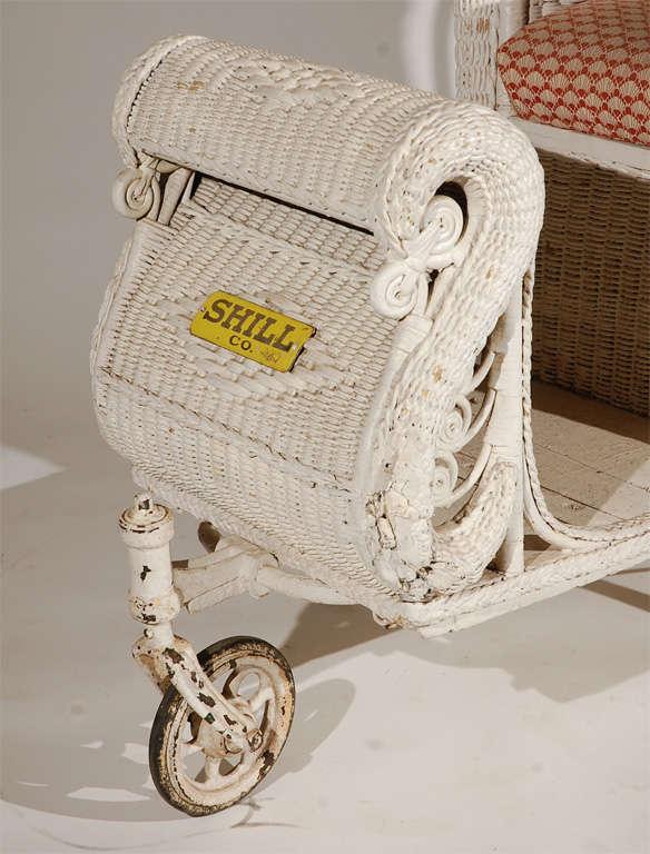 Antique Wicker Boardwalk Rolling Chair At 1stdibs