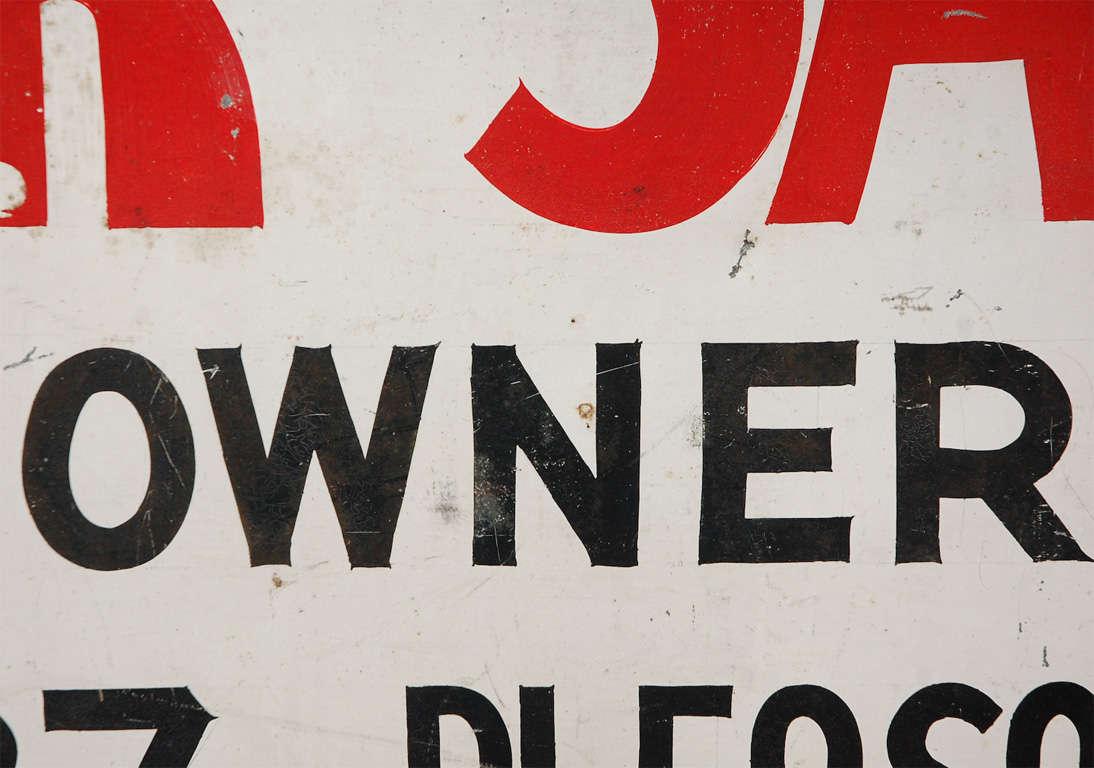 Vintage Pleasantville For Sale Sign For Sale 2