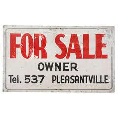 Vintage Pleasantville For Sale Sign