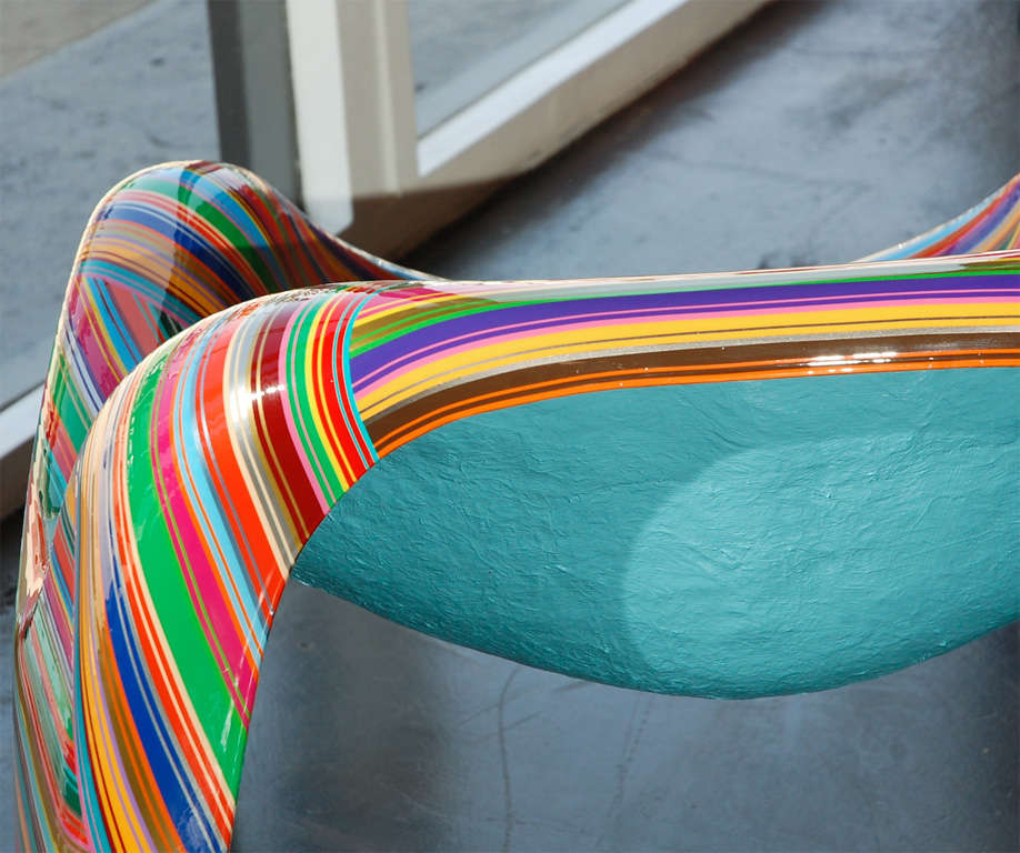 Pair of Colorful Striped Vintage Armchairs by Mauro Oliveira 10