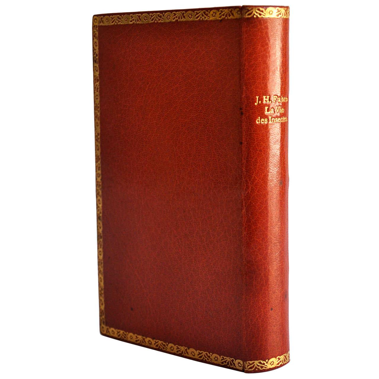 rare wiener werkstatte gilt leather book binding at 1stdibs