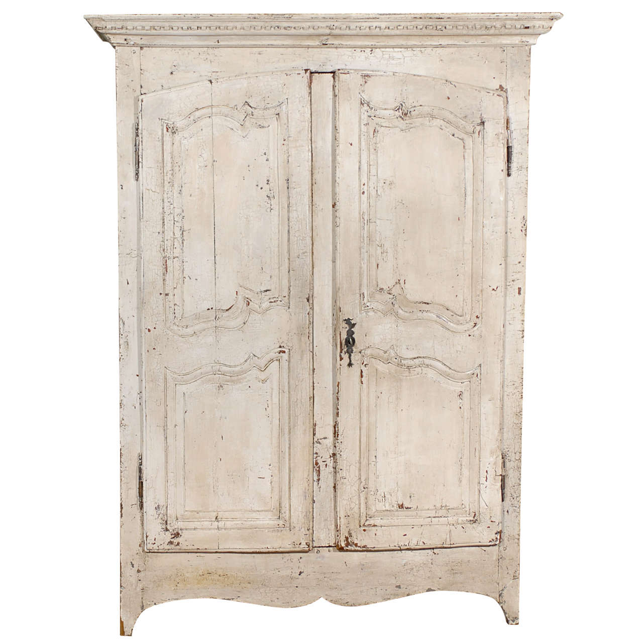 French Painted Chestnut Armoire At 1stdibs