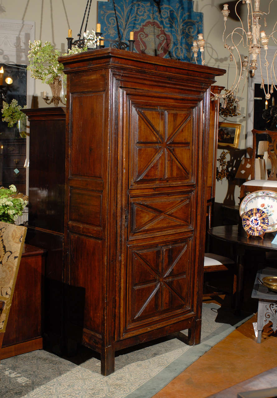 18th century french bonneti re armoire with geometric. Black Bedroom Furniture Sets. Home Design Ideas