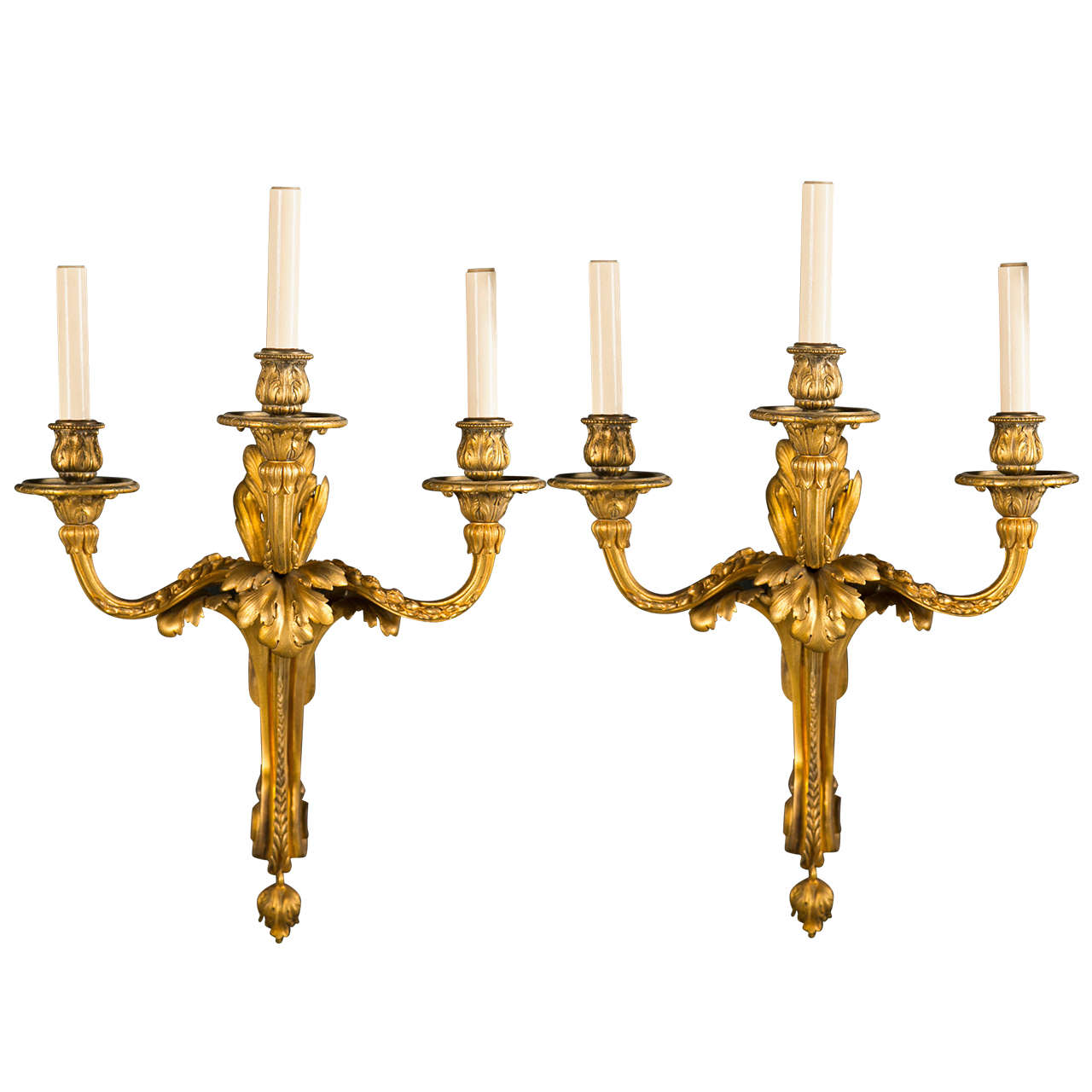 Pair of Caldwell Three Light Sconces
