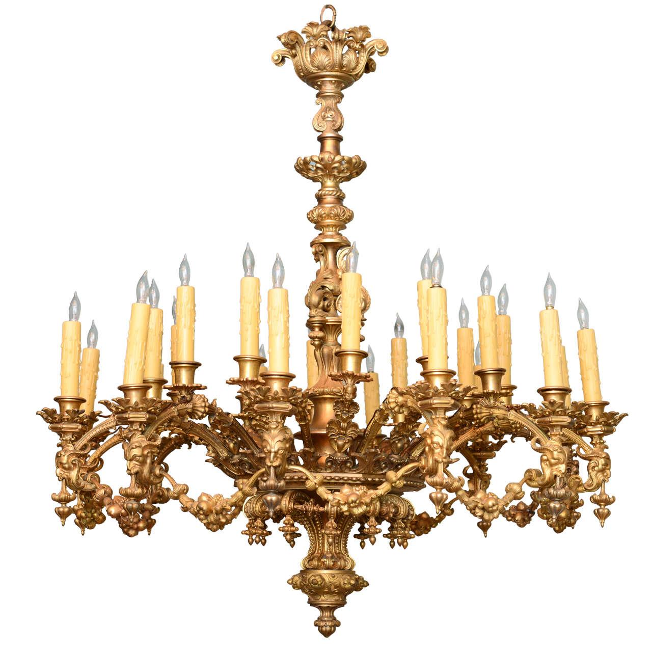 Magnificent Napoleon III Gilt Bronze Chandelier For Sale at 1stdibs – Bronze Chandeliers
