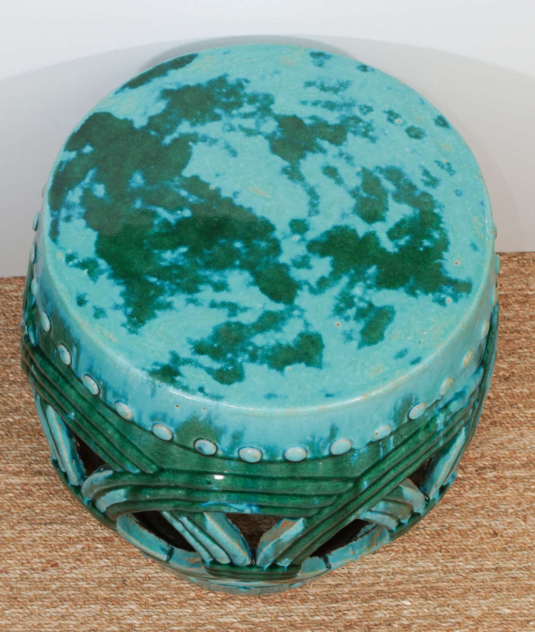 A Pair Of Chinese Ceramic Garden Stools At 1stdibs