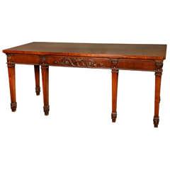 George III Carved Mahogany Side Table