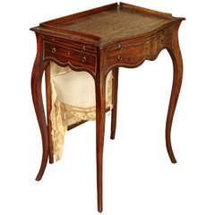 George III Figured Mahogany Lady's Writing Table