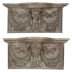 Pair of 19th Century French Carved Wall Consoles