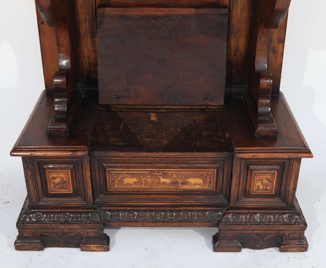 18th Century and Earlier 18th Century Italian Inlaid Walnut Cabinet For Sale