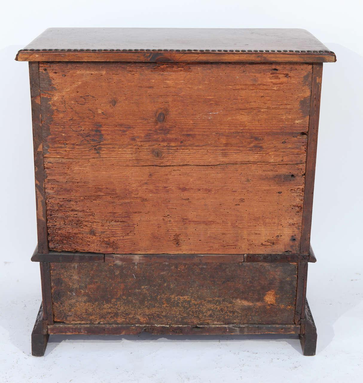 18th Century Italian Inlaid Walnut Cabinet For Sale 4