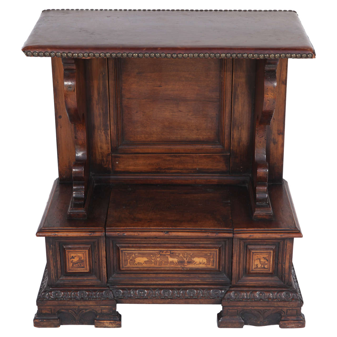 18th Century Italian Inlaid Walnut Cabinet For Sale