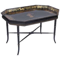 19th Century Papier Mâché Tray Table