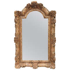 18th Century French Regence Giltwood Mirror