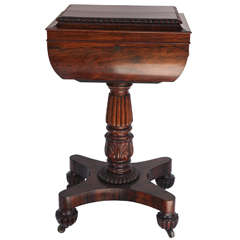 19th Century English Regency Rosewood Box Table