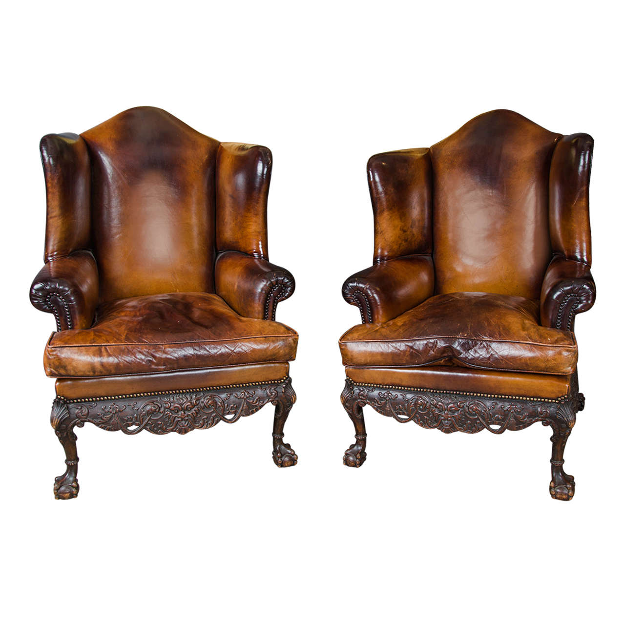 Antique wing chair - Antique Wing Chair 40