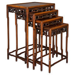 Nest of Padouk Chinese Tables