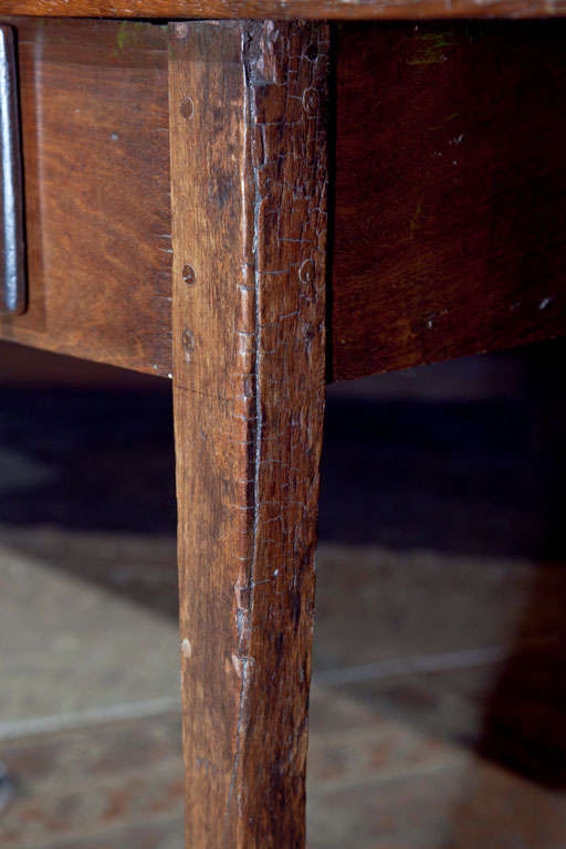 Portuguese Colonial Hardwood Work Farm Table C 1850 For