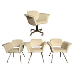Set of 4 armchairs model Prisme - Steiner edition - Circa 1958