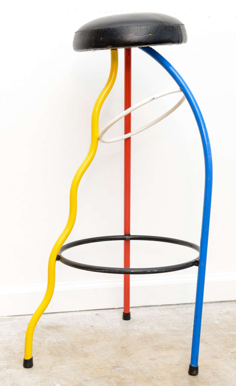 Fun Colorful Memphis Barstools By Javier Mariscal Image 4