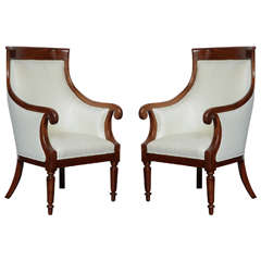 Pair of Late 19th Century Mahogany Armchairs