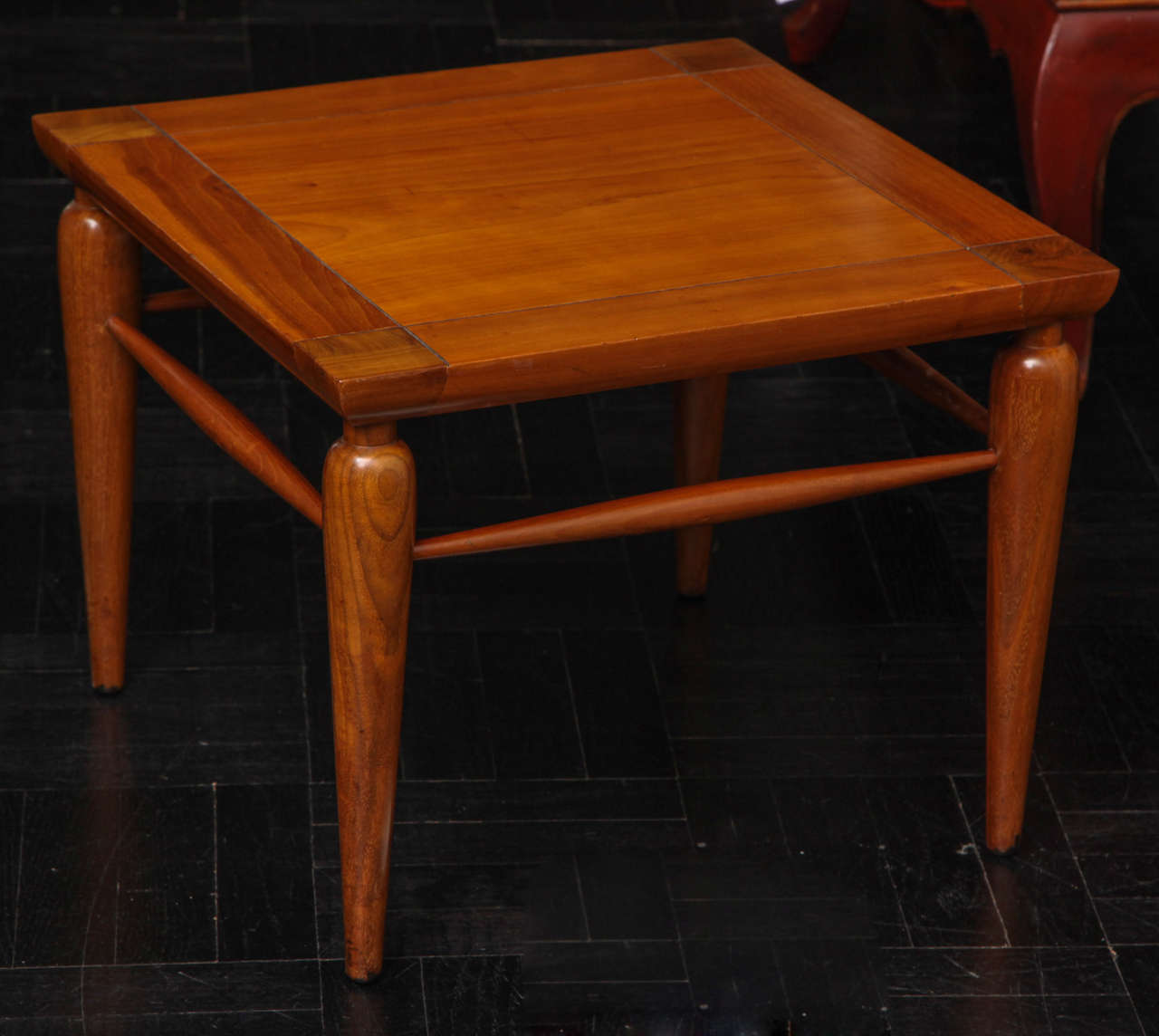 Pair of Mid-Century Walnut Tables For Sale 1