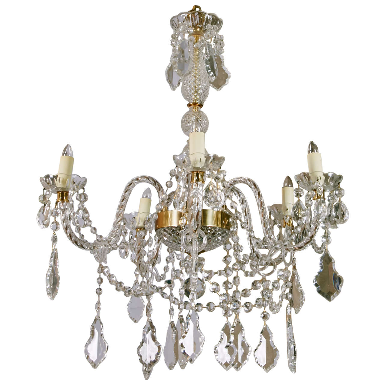 1940s France Classic Crystal Chandelier At 1stdibs