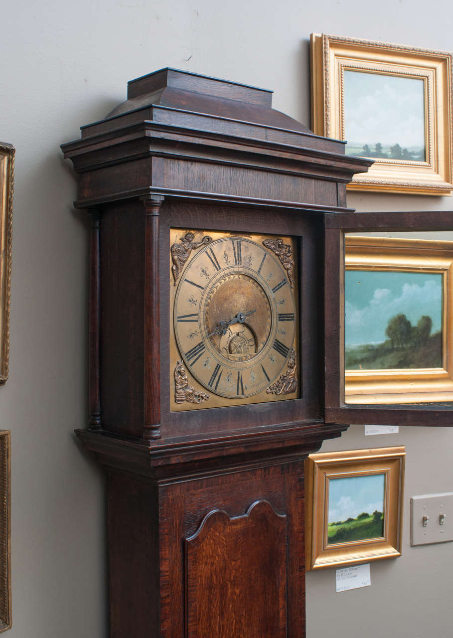 Early English One Handed Tall Case Clock Grandfather At