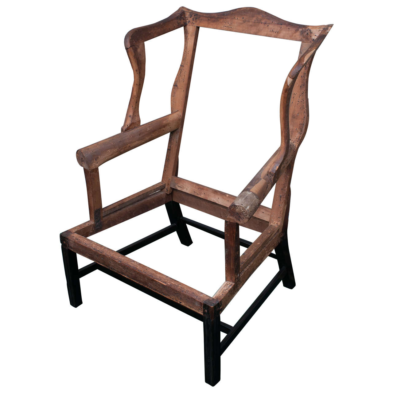 Genial Chippendale Wing Chair Frame For Sale