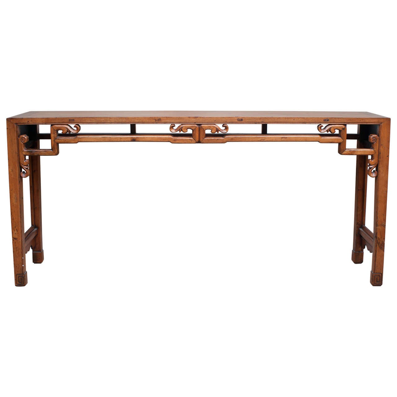 Long and narrow console table 19th century at 1stdibs for Long narrow side table