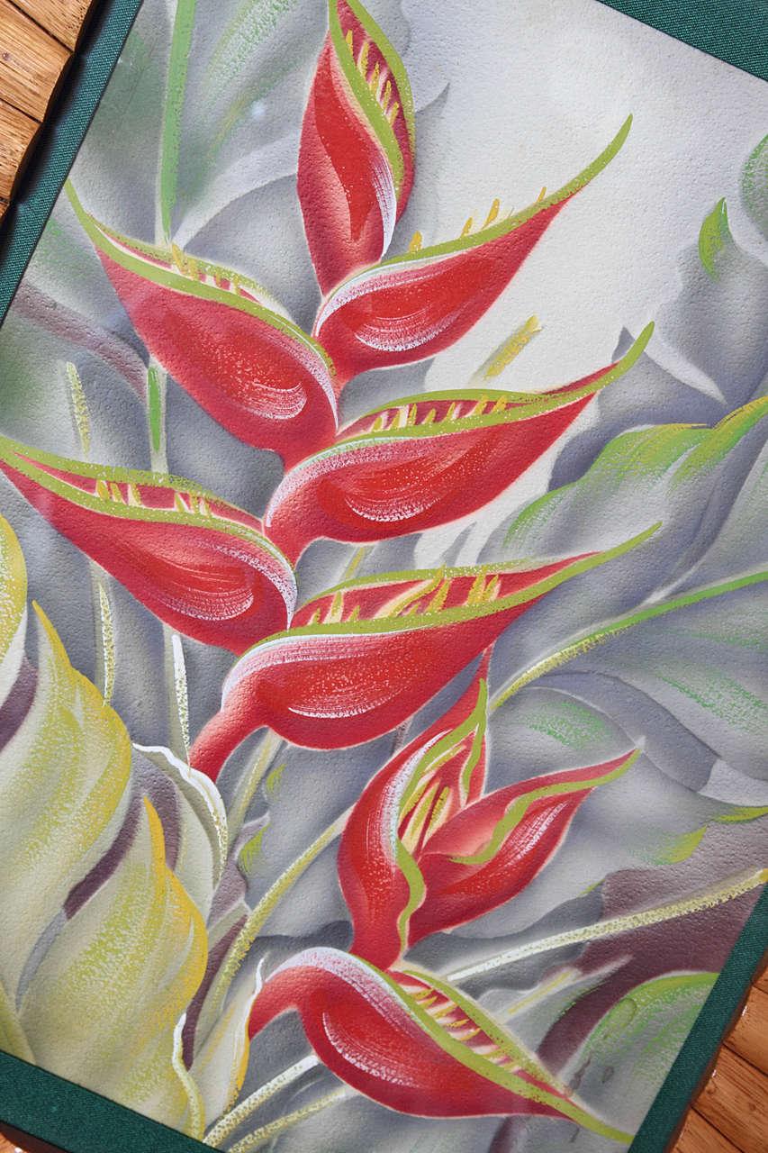 Original Signed Hale Pua Frank Oda Hawaii Painting At