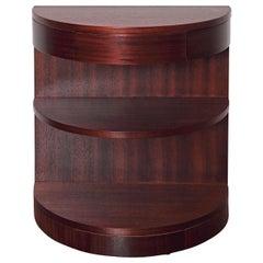 Streamline Art Deco Demilune Side Table by Karpen