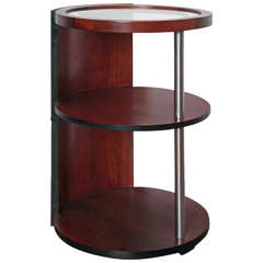 American Art Deco Side/Lamp Table, Manner of Gilbert Rohde