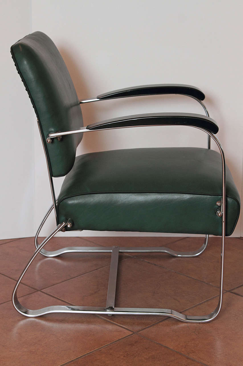 Early Mckay Craft Streamline Machine Age Chair At 1stdibs