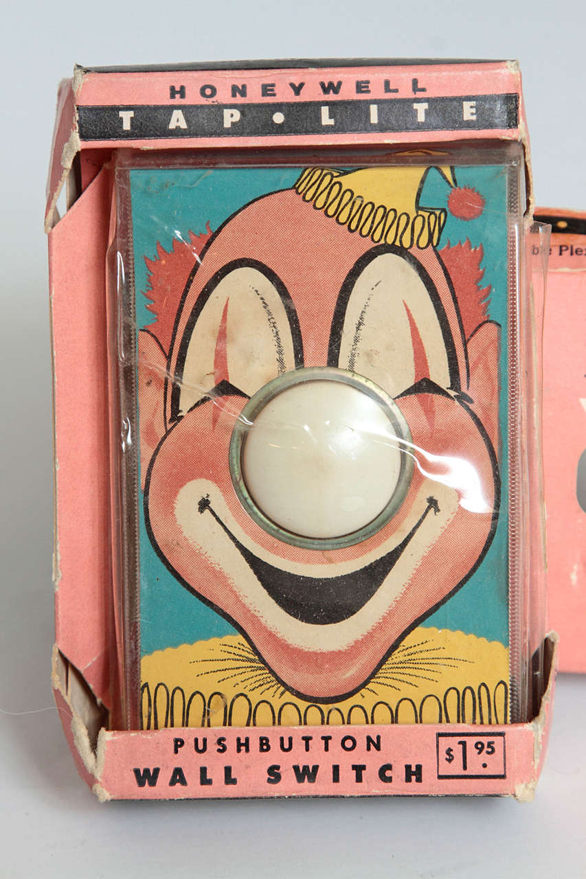 Whimsical Henry Dreyfuss Designed Honeywell Tap Lite Wall Switch/Covers For Sale 1