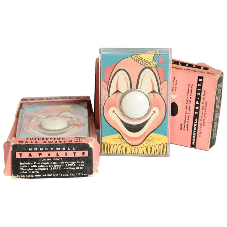 Whimsical Henry Dreyfuss Designed Honeywell Tap Lite Wall Switch/Covers For Sale
