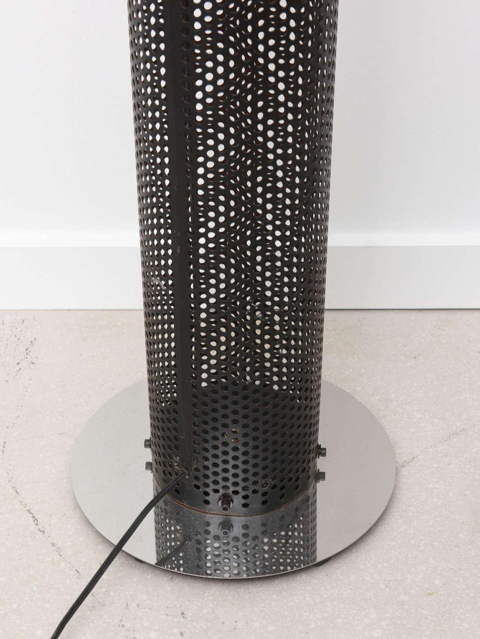 Retro Tubular Chrome and Black Floor Lamp For Sale 1