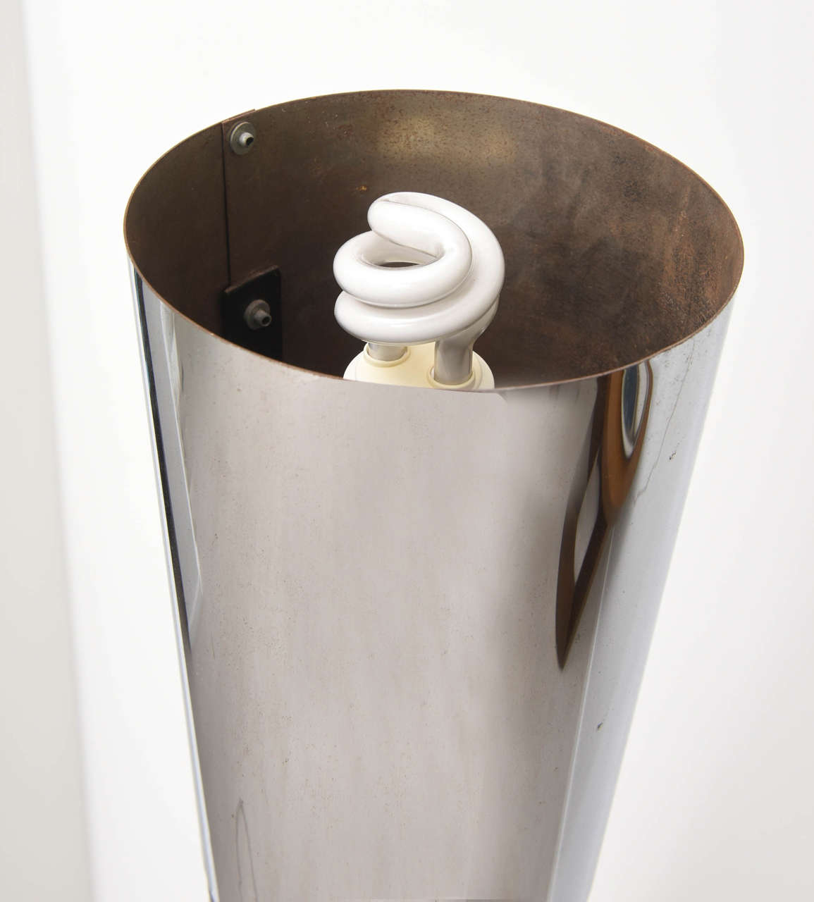 Retro Tubular Chrome and Black Floor Lamp For Sale 3